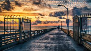 Hintergrundbilder Vereinigte Staaten Küste Bootssteg Himmel HDRI Natur