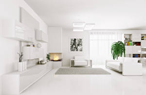 Wallpapers Interior Lounge sitting room Design High-tech style