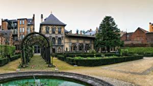 Photo Belgium Building Gardens Shrubs Rubens House Antwerpen Cities
