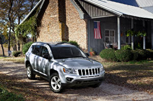 Wallpapers Jeep Houses Silver color 2011 Compass automobile