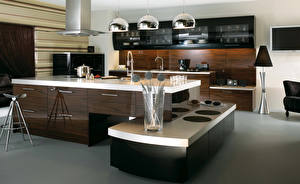 Pictures Interior Kitchen Design Table High-tech style