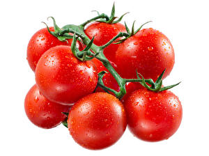Image Vegetables Tomatoes Many Drops Red Food