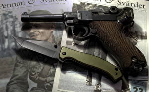 Wallpapers Pistols Knife ParaBellum military
