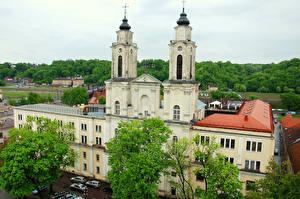 Hintergrundbilder Litauen Haus Kaunas