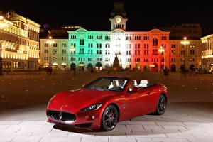 Picture Maserati Building Red Cabriolet Night Metallic 2011 GranCabrio Sport Cars