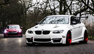 Picture BMW White Front E92 M3 Cars Cars Nature