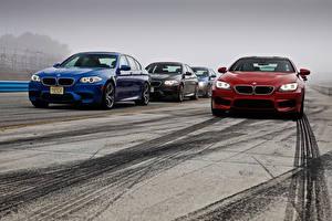 Fonds d'écran BMW Routes M5, M6 Voitures
