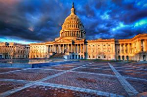 Fotos USA Gebäude Washington, D.C. HDR Capitol Städte