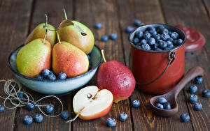 Wallpaper Pears Blueberries Fruit