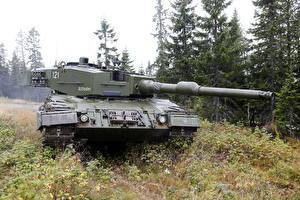 Wallpaper Tank Leopard 2 Grass Norwegian Leopard 2 A4