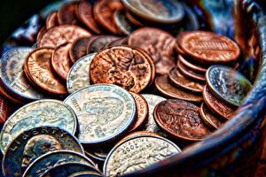 Bilder Geld Münze Viel Großansicht USA HDRI