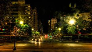Bilder Vereinigte Staaten Haus HDR Straße Nacht Straßenlaterne Texas Austin Städte