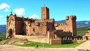 Photo Spain Castle Castillo de Javier Navarra Cities