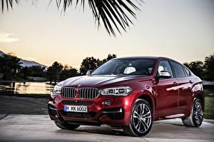 Image BMW Burgundy Metallic 2014 X6 F16 M50d Cars