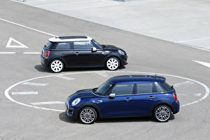 Pictures Mini Tuning Two Blue 2014 Cooper D 5-door Cars