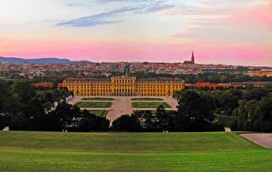 Bureaubladachtergronden Oostenrijk Burcht Gazon Wien Schoenbrunn een stad