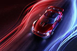 Fotos Volkswagen Rot Metallisch Von oben Roadster 2014 GTI roadster Autos