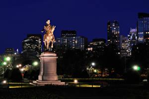 Hintergrundbilder USA Gebäude Denkmal Boston Nacht