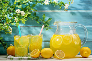 Wallpaper Drinks Juice Lemons Lemonade Highball glass Jugs