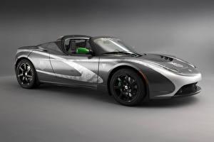 Hintergrundbilder Tesla Motors Tuning Graue Cabrio Roadster 2010 Roadster Tag Heuer Autos