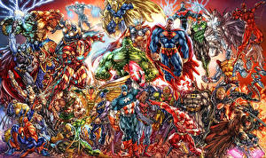 Bilder Superhelden Hulk Held Thor Held Superman Held Supergirl Held Fantasy