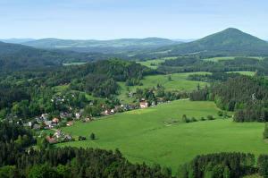 Picture Czech Republic Landscape photography Fields Forests  Nature