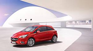 Hintergrundbilder Opel Rot Metallisch 2015 Corsa