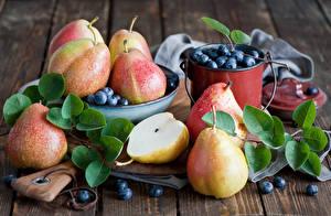 Image Fruit Pears Blueberries Food