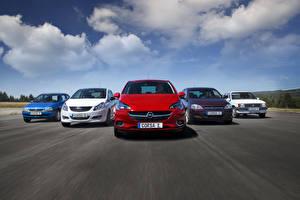 Fotos Opel Wege Himmel Wolke Vorne 2015 Corsa Autos