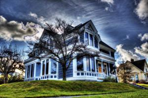 Hintergrundbilder USA Haus Washington Design Gras Eigenheim HDR Städte