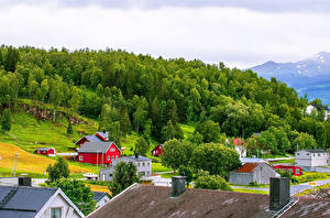 Images Norway Building Small towns Trees Cities