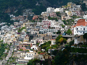 Wallpapers Italy Houses Amalfi Cities