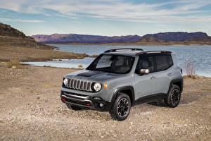 Hintergrundbilder Jeep Küste Grau 2015 Renegade auto
