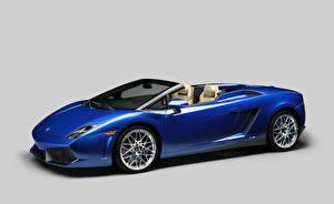 Picture Lamborghini Tuning Blue Cabriolet Luxurious Metallic 2011 Gallardo LP550-2 spyder automobile