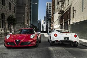 Picture Alfa Romeo Roads Two Metallic Front Back view 2015 4C auto