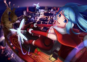 Tapety na pulpit Vocaloid Wróżki Święta Bożego narodzenia Dziewczyny