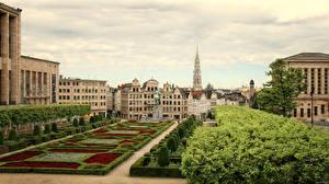 Picture Belgium Building Gardens Brussels Cities