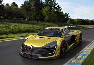 Papel de Parede Desktop Renault Tuning Amarelo 2014 R.S. carro