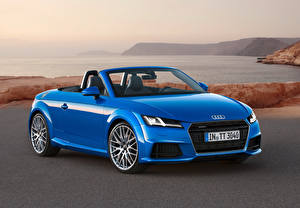 Wallpapers Audi Coast Light Blue Cabriolet Metallic Roadster 2014 TT roadster Cars
