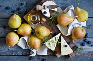 Photo Fruit Pears Cheese Food