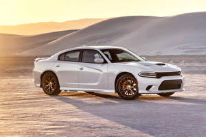 Pictures Dodge Tuning White 2015 Charger SRT Hellcat Cars