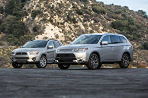 Picture Mitsubishi 2 Grey Metallic 2014 Outlander GT automobile