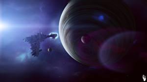 Picture Planet Technics Fantasy Ship Fantasy Space