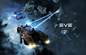 Pictures EVE online Ship Retriever vdeo game Space Fantasy 3D_Graphics