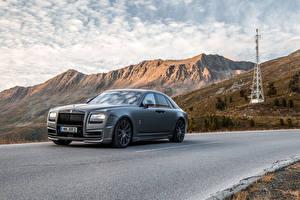 Bilder Rolls-Royce Tuning Straße Graues 2014 Ghost (Spofec) auto