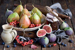 Pictures Fruit Pears Common fig Blueberries Jar
