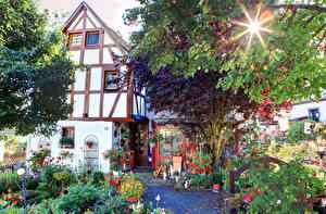 Pictures Germany Houses Gardens Landkern Cities