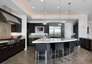Pictures Interior Kitchen Design Table Chairs High-tech style