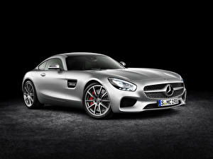 Images Mercedes-Benz Tuning Silver color 2014 AMG GT Cars