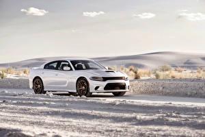 Photo Dodge Tuning White Metallic 2015 Charger SRT Hellcat Cars
